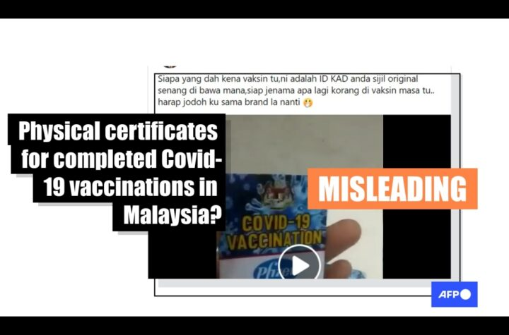 This video shows vaccination cards made by a Malaysian printing company and not sanctioned by the government